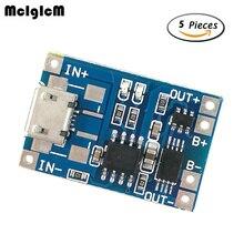 MCIGICM 5 шт. Micro USB 5 в 1A 18650 TP4056 модуль зарядного устройства литиевой батареи зарядная плата с защитой двойные функции 1A li-ion