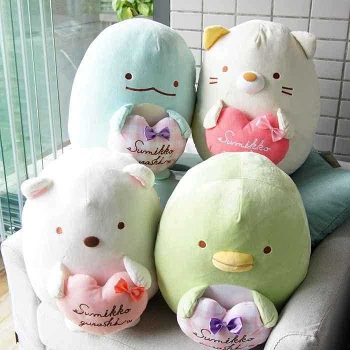 Animação japonesa Sumikko Gurashi Brinquedo de Pelúcia Brinquedos de Pelúcia Macia pelúcia San-X Canto Bio Bonito Dos Desenhos Animados Do Bebê Travesseiro Para Dormir travesseiro