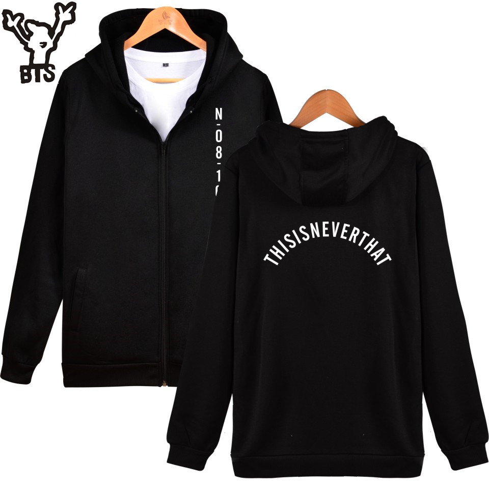 BTS Kpop women hoodies sweatshirt Winter Funny streetwear Coat korean Hip hop Bangtan Boys women hoodies zipper warm 4XL Clothes