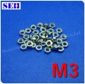 300pcs Nut M3 304 Stainless Steel Hex Head Nuts Metric Thread Screw Nut Silvery White Hexagon Nuts