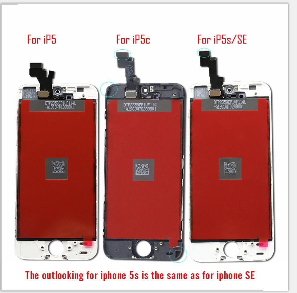 AAA Screen on For iPhone 5 5c 6 LCD Touch Screen Assembly Digitizer Replacement Module for AAA+++ Screen on For iPhone 5 5c 6 LCD Touch Screen Assembly Digitizer Replacement Module for iPhone 6s 5s display No Dead Pixel