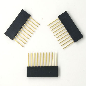 900pcs/lot 2.54mm 10Pin Header Female 10MM Long Needle Female Pin Header Strip Stackable Header