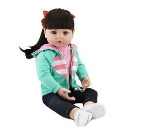 Image 3 - NPK Bebes Reborn doll 47CM silicone doll Girl Reborn Baby Doll Toy Lifelike Newborn Princess victoria Bonecas Menina for kids