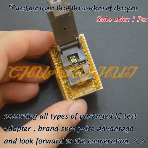IC TEST QFN8 To DIP8 Programmer Adapter WSON8 DFN8 MLF8 Test Socket Pitch=0.65mm Size=3.3x3.3mm