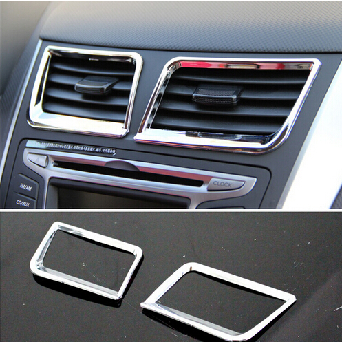 Car Accessories central air conditioning outlet cover ABS chrome ...