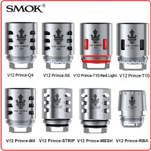 Eletronic Cigarette Vape Original SMOK TFV12 Prince Coil RBA Q4 M4 X6 T10 Light Mesh Strip Core Glass for V12 Prince Tank Mag(China)