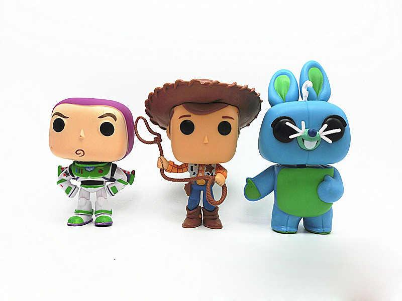 4 Figura de ação Toy Story Woody e Buzz Lightyear Brinquedos Frete Grátis 6 pçs/set Crianças Modelo Coleção Toy Story Filme de Disney