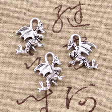 10pcs Charms dragon 21x14mm Antique Making pendant fit,Vintage Tibetan Silver Bronze,DIY bracelet necklace(China)