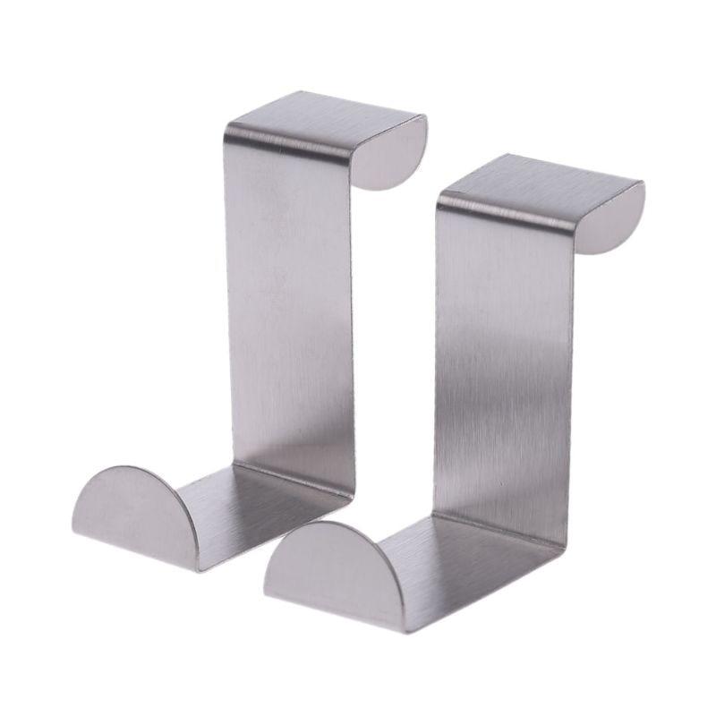 Stainless Steel Over Door Hook Kitchen Cupboard Drawer Cabinet Clothes Holder Organizer
