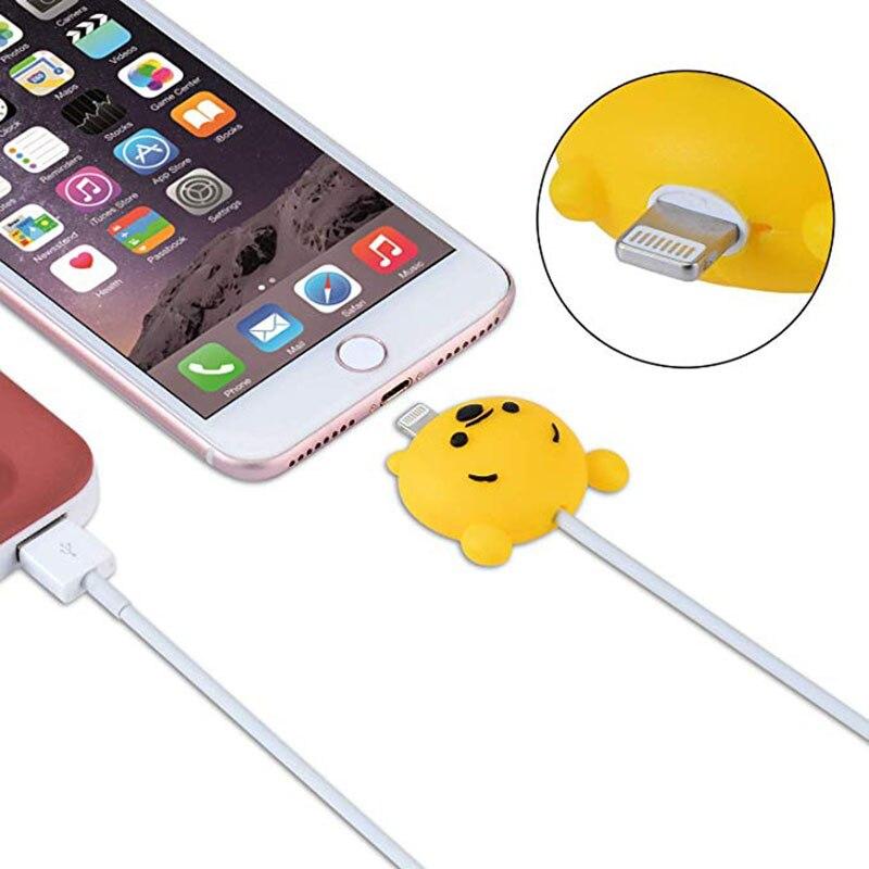 100pcsCartoon protecteur câble cordon économiseur housse Coque pour iPhone8 Plus 5 5S SE 5C 6 6S 7 X Xs Max XR pour Funda iPhone 7 Plus étui - 6