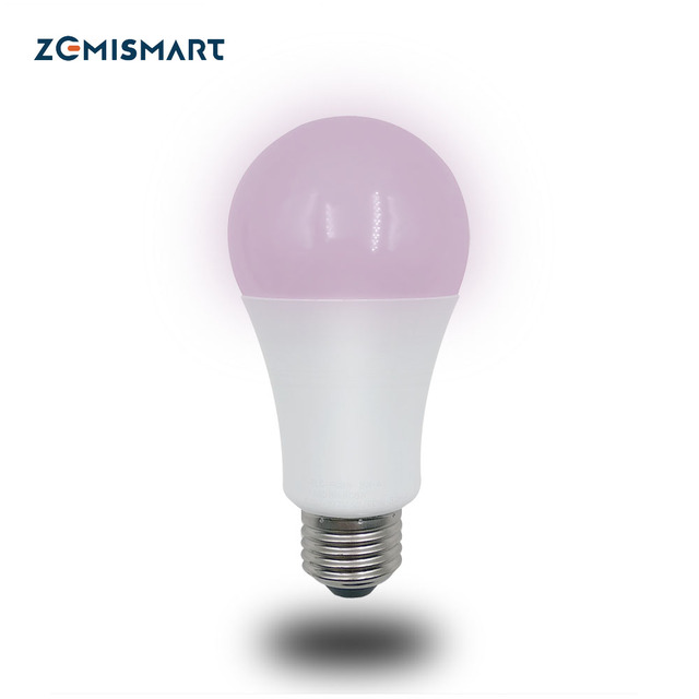 ZLL ZigBee LED Smart RGBW Bulb Light E27 Work with Echo Plus and Zemismart Hub Suit for 110v to 240v