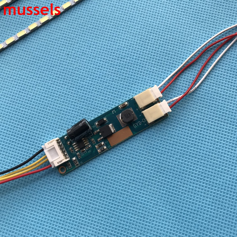 "led רצועת במשך 22"" בהירות מתכוונן קיט רצועת מנורה תאורה אחורית LED 488mm אינץ, עדכון 22"" מסך LCD CCFL אינץ LED ניתן לחתוך על ידי כל (5)"