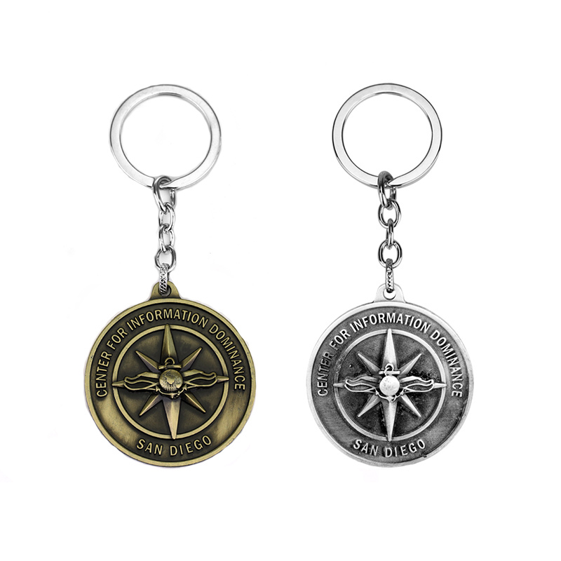 MQCHUN Fashion New San Diego Keychain Center For Information Dominance Letter Logo Keyring Keychain for Women Men Jewelry -30