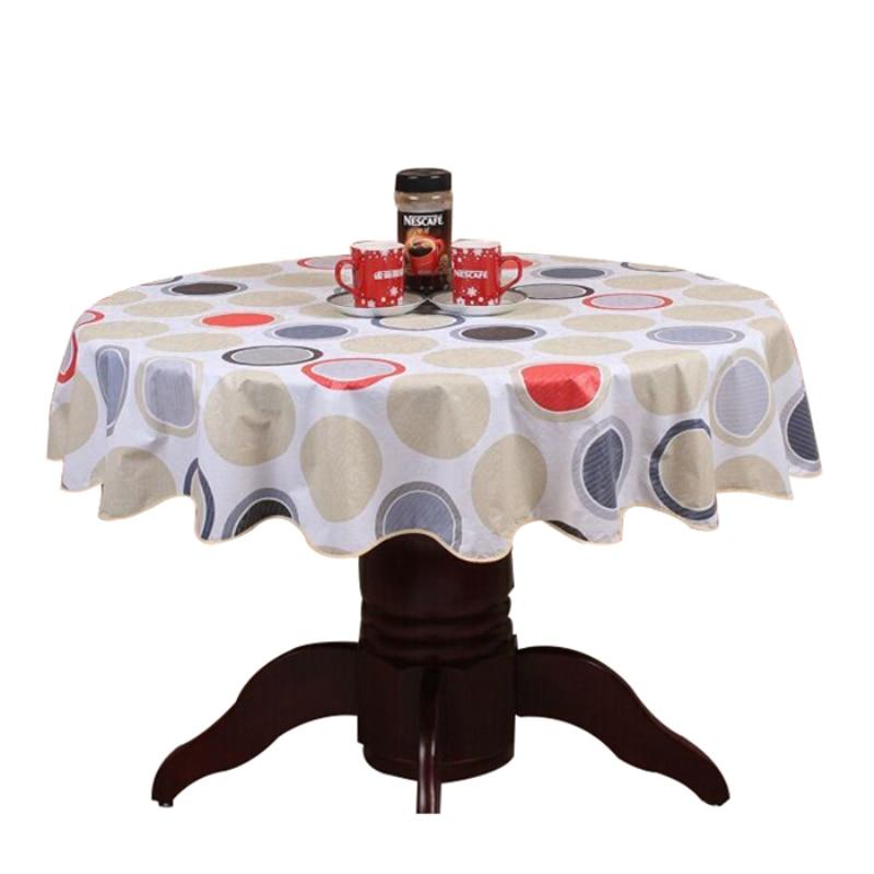 פסטורלית שולחן עגול שולחן PVC פלסטיק שולחן כיסוי פרחים מודפס מפה בית חם מסיבת מסיבת החתונה