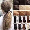 Женщины Drawstring Длинные Вьющиеся Наращивание Волос Кусок Обернуть Вокруг Хвост Конский Хвост Нескольких Цветов быстрая Доставка