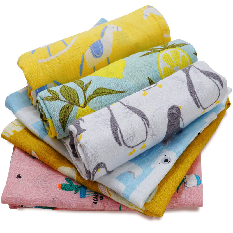 High Quality Organic Cotton Baby Blanket Swaddle Wrap Supersoft Baby Bedsheet 60*60CM Multi-use Hanky Hand&Bath Towel Baby Stuff