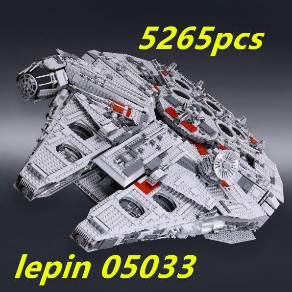 Lepin star wars ucs millennium falcon 05033 Ultimate Collector de Building block Compatible legoing starwars millennium falcon