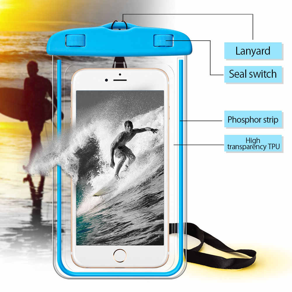 """Universal Waterproof Bag Case For Samsung Galaxy S8 S9 Plus S7 S6 Edge A6 A8 Plus 2018 J3 J5 J7 2017 A7 A5 Cover Phone Pouch 8"""""""