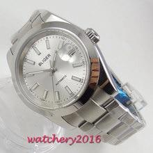 39mm Bliger White Dial Sapphire Glass Luminous Hands Polished Bezel Automatic Movement men's Watch