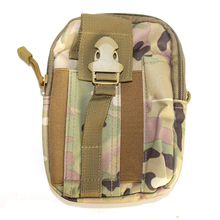 ФОТО outdoor sport camping hiking tactial bag military molle hip pouch running waist belt bag fanny pack phone pocket