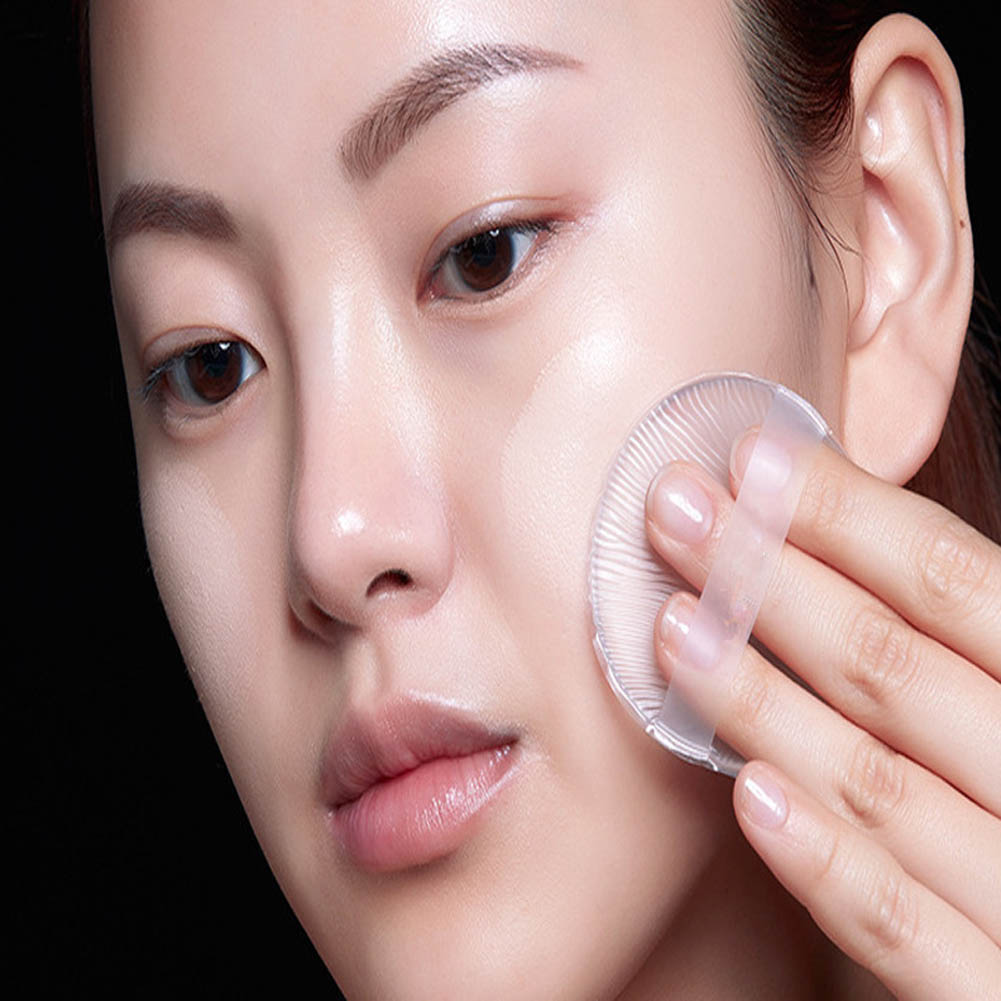 Beauty Essentials 1 Pc Silicone Powder Puff Bb Cream Liquid Foundation Makeup Sponge Puff Clear Silicone Gel Cosmetic Sponge Puffs