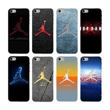 hot !! phone case for Apple iPhone 4 4s 5 5s 5c 6/6s 6 plus/6s plus cover case deluxe black plastic hard Housing Jordan logo