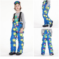 High Quality Winter Boys Girls Ski Pant Windproof Suspenders Pants Tracksuit for Children Waterproof Warm Kids Snow Ski Trousers