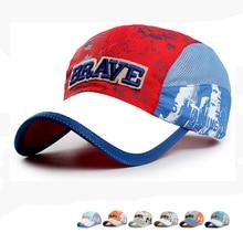 все цены на Autumn New Outdoor Quick Drying Baseball Cap Children's Hats Men Women Sun Hat Mesh Hats Travel Portable Baseball Caps Boys 2019