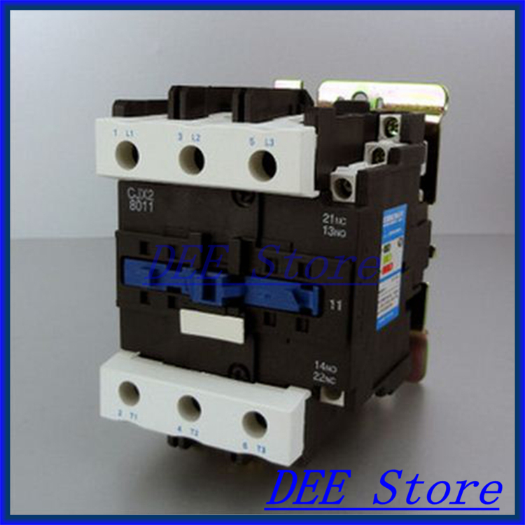 Motor Starter Relay CJX2-8011 contactor AC 220V 380V 50A Voltage optional LC1-D free shipping high quality motor starter relay cjx2 6511 contactor ac 220v 380v 65a voltage optional lc1 d