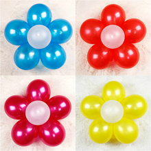 1PCS Seal Clip+ 6PCS balloons Combine 6 Balloons clip to Flower Shape Multi Balloon Sticks Accessory