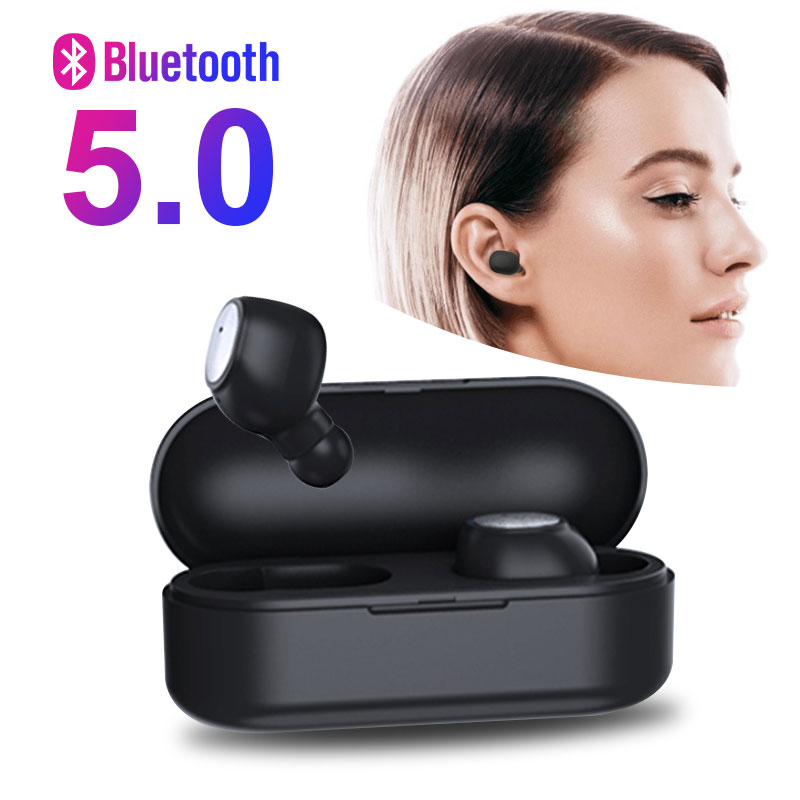 <font><b>TWS</b></font> Wireless Bluetooth Earphones V5.0 In-Ear Music Earbuds Set Stereo Headset bluetooth headphone for Xiaomi huawei iphone image