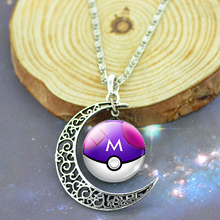 Pokemon Silver Plated with Glass Cabochon Necklace