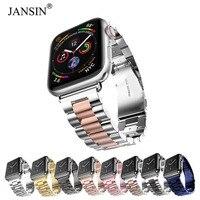 Для Apple Watch Band 44 мм 40 мм 38 мм 42 мм модный металлический спортивный браслет ремешок из нержавеющей стали для iWatch Series 4 3 2 1 ремешки для часов