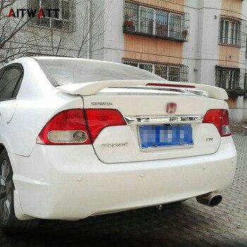 Esterno Baule Posteriore Ala Spoiler In Plastica ABS Non Verniciato Primer Colore decorazione Misura Per Honda Civic 2006 2007 2008 2009 2010 2011