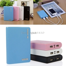 4X 18650 Dual USB Power Bank External Backup Battery Charger Box Case For Phone Z17 Drop ship