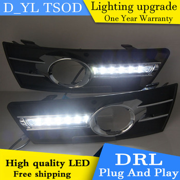 Car styling For Volkswagen CC 09-13 LED DRL For led fog lamps daytime running High brightness guide LED DRL light Automobile.