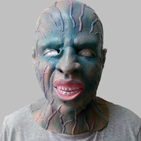 Horror Human Superman Movie Theme Headgear Latex Spider Man Mask Halloween Cosplay Spider Batman Mask Scary Mirrorman Masks
