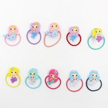 10pcs Mermaid Unicorn Party High Elastic Hair Band Birthday Decoration Girls Baby Shower Adult Supplies