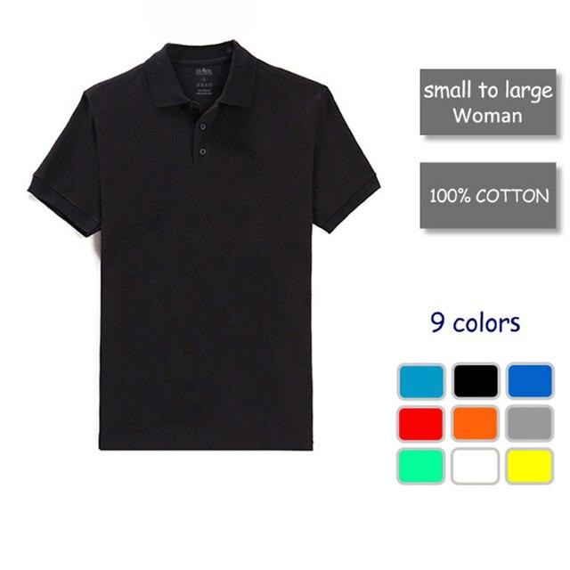 style le plus récent hot-vente plus récent réel classé € 28.16  2017 Personnalisé Coton Femmes Polo Chemise Impression Logo Texte  Pour La Société et Équipe 9 Couleurs dans T-Shirts de Mode Femme et ...