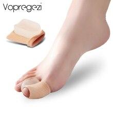 Vopregezi 2 adet halluks Valgus düzeltici ayak parmakları için silikon bandaj Valgus düzeltme en başparmak büyük ayak ayırıcı ayak bakımı aracı