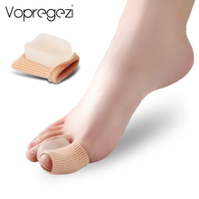 Vopregezi 2pcs Hallux Valgus Corrector นิ้วเท้าซิลิโคนผ้าพันคอ Valgus การแก้ไข Thumb Big Toe Separator Foot Care เครื่องมือ