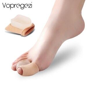 Image 1 - Vopregezi 2pcs Hallux Valgus Corrector for Toes Silicone Bandage Valgus Correction of the Thumb Big Toe Separator Foot Care Tool