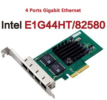 Hot Sale 82580EB E1G44HT Chip PCI Express PCI-E Gigabit Ethernet Server Small Network Card 1000Mbps LAN Controller Wired 4xRJ45