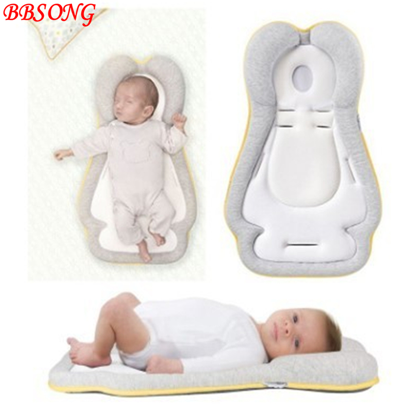 BBSONG Baby Car Seat Headrest Sleep Positioning Pad Infant Newborn Nursing Pillow Shoulder Support Cushion Soft Sleep Shaped Pad