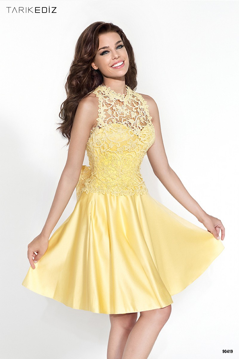 Short yellow prom dresses recommendations dress for winter in 2019
