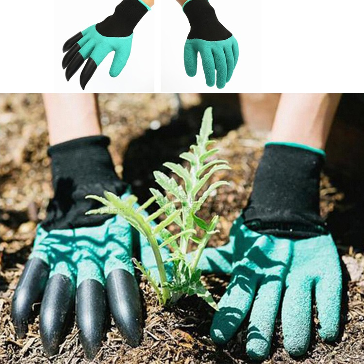 for Digging and Planting Garden Genie Gloves by Sweetmart with Fingertips Claws on right Hand Safe for Rose Pruning for Quick And Easy Gardering