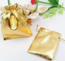 10 unids 11*16 cm bolso de lazo bolsas de mujer de la vendimia de oro para La Boda/Fiesta/de La Joyería/de la Navidad/bolsa de Envasado Bolsa de regalo hecho a mano diy