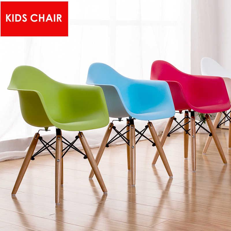 современный дизайн детский стул детский деревянный базовый