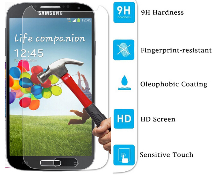gt-i9505 / gt-i9506 2.5D 9H Tempered Glass Film for Samsung Galaxy S4 Protection decran verre trempe Garde for Samsung Galaxy S4