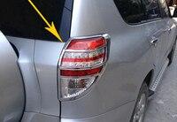 2 pcs ABS Chrome Rear Tail Light Lamp Cover Trim For Toyota RAV4 2006 2007 2008 2009 2010 2011 2012